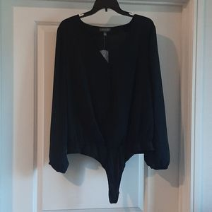 NWT Black button up bodysuit